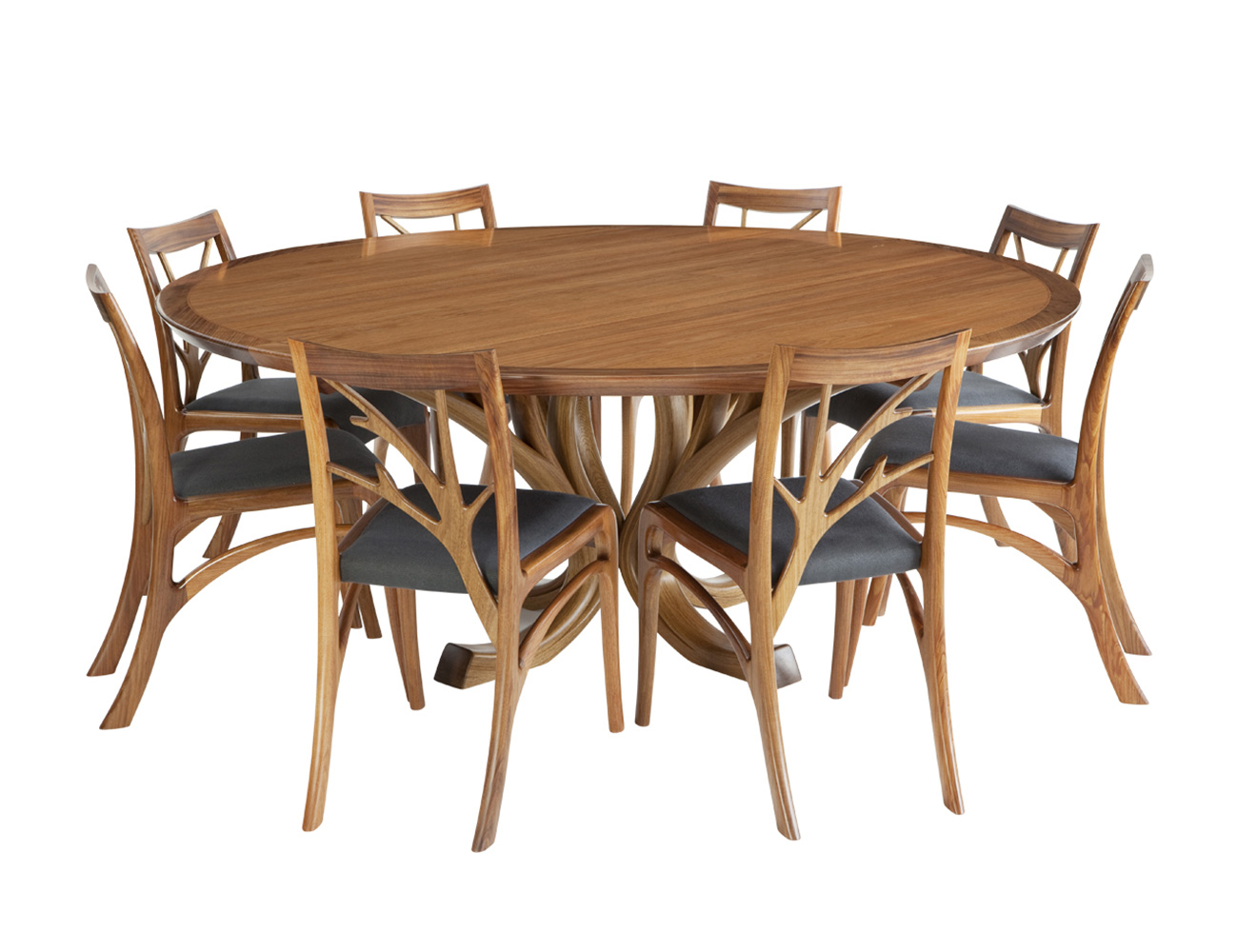 Blackwood Magnolia 8 Seater Round Wooden Dining Table