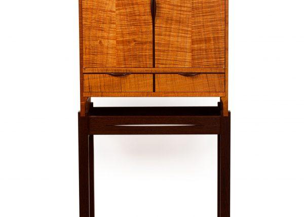Custom Handmade Minimalist Cabinet in Blackwood & Wenge