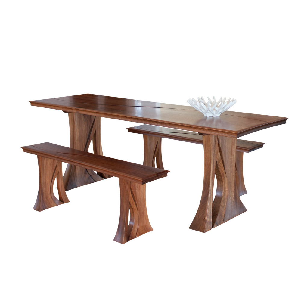 Custom Handmade Solid Timber Dining Suite with Bench Seat from Tasmanian Blackwood