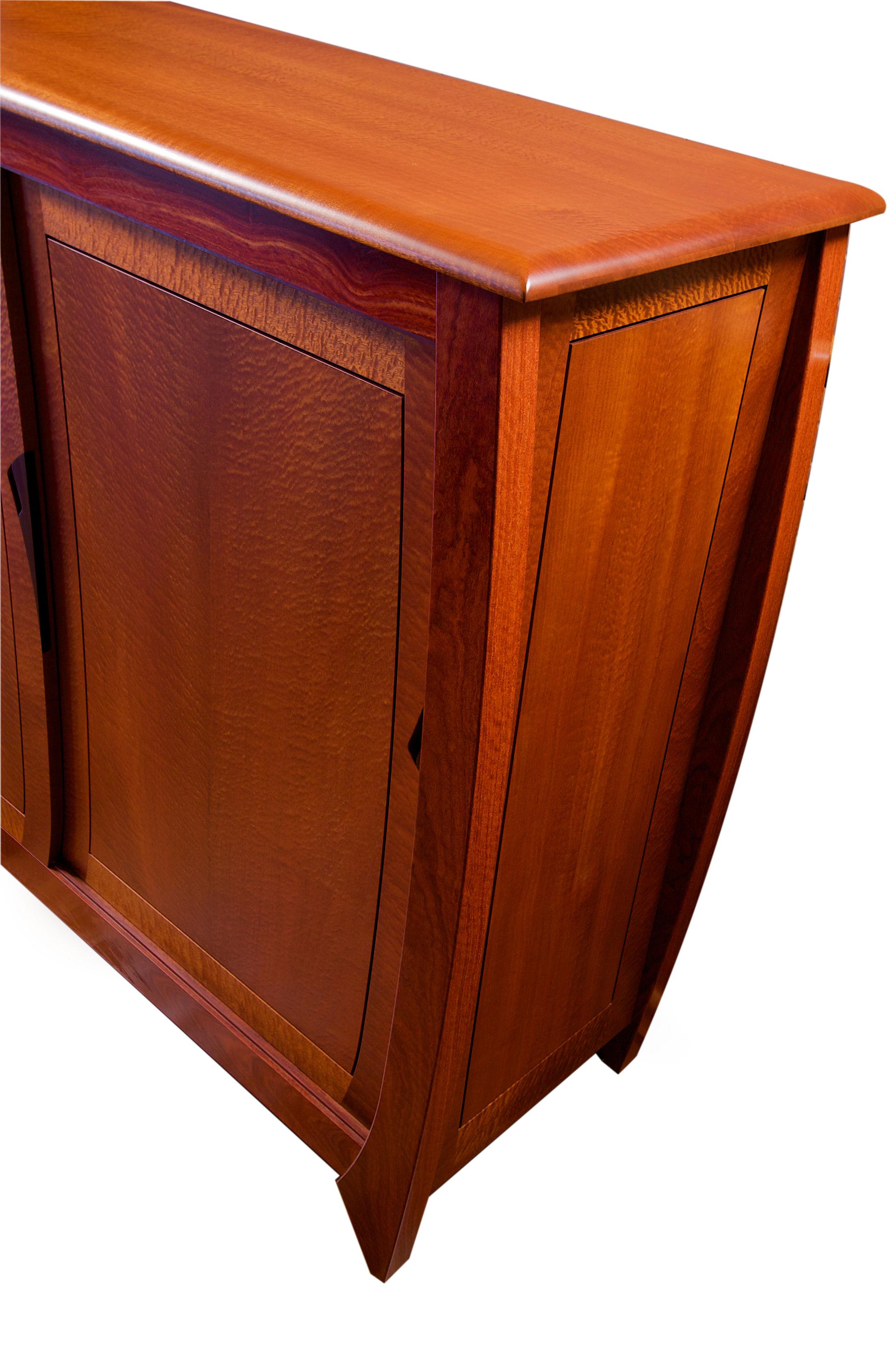 Custom Handmade Solid Timber Orb Style Cabinet